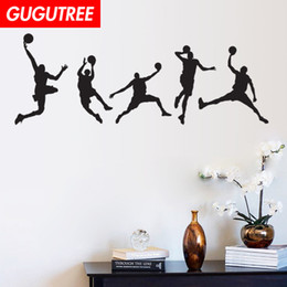 basketball bedroom Australia - Decorate Home basketball cartoon art wall sticker decoration Decals mural painting Removable Decor Wallpaper G-1768