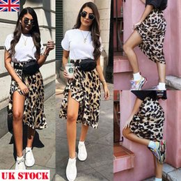 $enCountryForm.capitalKeyWord NZ - New 2019 Fashion New High Waisted Asymmetric Stretch Leopard Skirt For Women Girl Party Mid-calf Bodycon Skirt good quality drop shipping