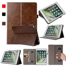 Asus Tablet Stands Australia - Classic Imitation Leather ipad Case Cover For ipad 5 6 ipad AIR With Folding Stand Dormancy PU Leather Tablet Protective Shell