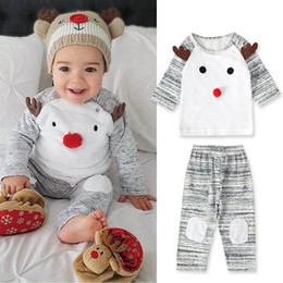 $enCountryForm.capitalKeyWord Australia - new Christmas baby boys suits newborn outfits baby boy clothes baby infant boy designer clothes long sleeve t shirt+pants A7340