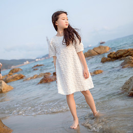 $enCountryForm.capitalKeyWord NZ - Sweet Tassel Big Girls Dress Elegant Holiday Vacation Girls Summer Beach Casual Dress Children's Clothing