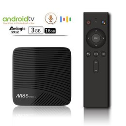 M8s Android Tv Boxes Australia - Google Voice Control MECOOL M8S PRO L ATV Android TV OS Amlogic S912 3GB 16GB Octa core Dual Wifi Smart TV Box