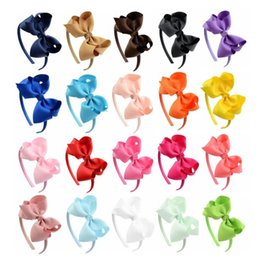 Headband lace wig online shopping - Pretty baby Hair Accessories For Infant Baby Lace Big Flower Bow Princess Babies Girl Hair Band Headband Baby s Head Band Kids FZP232