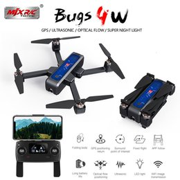 Mjx hd caMera online shopping - Mjx Bugs W B4w g Gps Brushless Foldable Drone With Wifi Fpv k Hd Camera Anti shake km minute Optical Flow Rc Quadcopter T190621