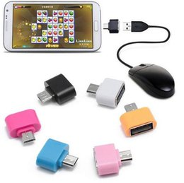 android tablet pc charger Australia - 100% tested Colorful Mini OTG Cable USB OTG Adapter Micro USB to USB Converter for Tablet PC Android Samsung Xiaomi HTC SONY LG