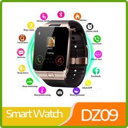 $enCountryForm.capitalKeyWord Australia - Free Ship Smart Watch DZ09 Smart Clock Support TF SIM Camera Men Women Sport Bluetooth Wristwatch for Samsung Huawei Xiaomi Android Phone