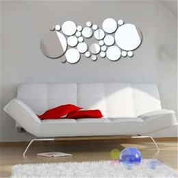 $enCountryForm.capitalKeyWord Australia - Fashion Dot Mirror Suface Wall Decor Television Wall Round Wall Sticker Removable Art Home Background Sticker 100 Sets DHL
