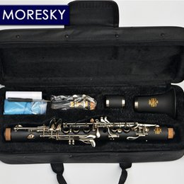 Plated Nickel Australia - MORESKY Clarinet Eb tone soprano clarinet Hard Rubber Body Material Clarinet for Children Nickel Plated keys
