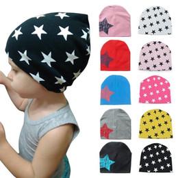$enCountryForm.capitalKeyWord NZ - Autumn Winter Newborn Baby Hat Cap Bonnet Enfant Crochet Stars Prints Children Beanies Cap Winter Warm Hats For Kids Baby Muts