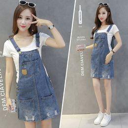 640bb1781df 2018 Plus Size summer Jeans Dress Women Washed sleeveless Suspender Denim  Dress Sundress Denim Mini Dress Female