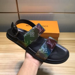 $enCountryForm.capitalKeyWord Australia - Old flower slippers male European station colorful 8 sandals leather beach shoes cross male drag flip-flops