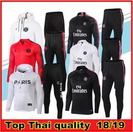b4f4a5a57 Psg adult Soccer tracksuit set 2018-19 Paris tracksuits 18 19 MBAPPE CAVANI  LUCAS HOME Football jacket kit Training suit Football Chándal