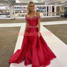 $enCountryForm.capitalKeyWord Australia - Elegant Mermaid Beads Evening Dresses Crystal Plus Size Off Shoulder Arabic Formal Special Occasion Pageant Gowns Prom Dress African Party
