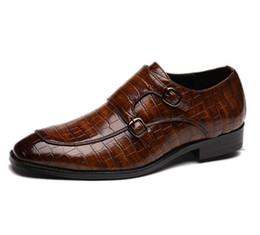 Mens wingtip dress shoes online shopping - Mens Dress shoes wingtip black leather formal wedding derby oxfords flat Party shoes for men