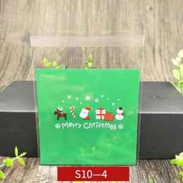 $enCountryForm.capitalKeyWord Australia - Christmas Halloween Cookie DIY Food Bag Self Adhesive Seal Packaging Plastic Bag Santa Claus Snowman Printed Christmas Decorations