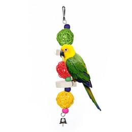$enCountryForm.capitalKeyWord Australia - Bird Toys Multi-colored Pet Supplies Rattan Balls With Bells Pet Toys For Parrot