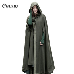 $enCountryForm.capitalKeyWord Australia - Medieval Winter Cloak Hooded Coat Thin Women Vintage Gothic Cape Poncho Coat Cardigans Long Trench Overcoat 2018 Casaco Feminin