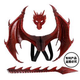 $enCountryForm.capitalKeyWord Australia - Disfraz De Dinosaurio Purim Halloween Kids How to Train Your Dragon 3 Cosplay Decoration Set Wing and Tail Child Dragon