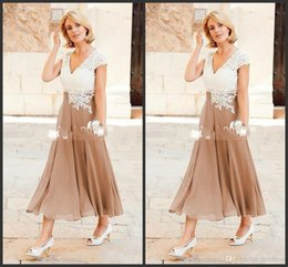 $enCountryForm.capitalKeyWord NZ - 2019 New A Line Mother Dresses V Neck Ankle Length Party Dresses For Mother Formal Wear with Cap Sleeve Mother of the Bride Dress 476