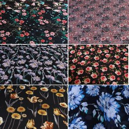 Wholesale Big Deal Chiffon Dress Fabric soft Dropping Stylish Floral DIY Cosplay Fashion summer Blouse Skirt fabric