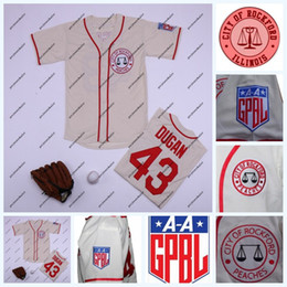 Drying peaches online shopping - 43 Jimmy Dugan Rockford Peaches Tom Hanks All Stiched Baseball Jersey AAGPBL A League of Their Own Movie Double Stitched Name and Number