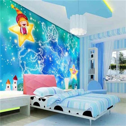 cartoon star picture Australia - custom size 3d photo wallpaper kids room mural cartoon constellation sky star 3d picture sofa TV backdrop wallpaper non-woven wall sticker