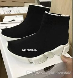 Flats Shoes Baby Girls NZ - 2019 Fashion Baby Kids Shoes Socks Boots Children Slip-On Casual Flats Speed Trainer Sneakers Boy Girl High-Top Running Shoes
