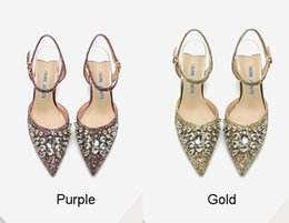 $enCountryForm.capitalKeyWord Australia - 2019 Fashion Luxury Beaded Sequined Designer Women Wedding Shoes High Heels 8cm 5cm Pointed Toes Pumps Wedding Dress Party Shoes Big Size