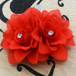 Dance Hair Australia - Rosebud Lily Marriage Headdress Dance Show Hair Ornament Shadow House Flower Hairpin