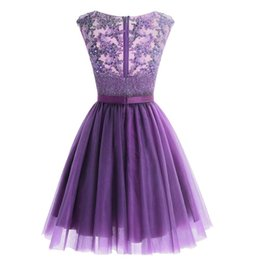 crystal champagne Australia - Grape Champagne Homecoming Dresses Jewel Beads Sequins Crystal Sash Short Prom Dresses Sparkly Mini Skirt Party Dresses Graduation Cocktail