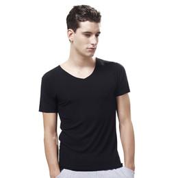 $enCountryForm.capitalKeyWord Australia - Men Undershirts Slim Fit Solid V Neck Comfortable Breathable Men Modal Underwear Short Sleeve Casual Tops