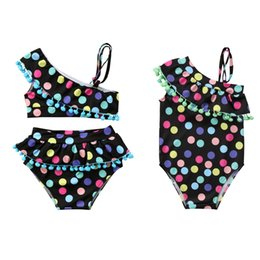 $enCountryForm.capitalKeyWord Australia - 2019 Brand New Toddler Infant Child Kid Baby Girls Colorful Dots Tassel Bikini Set Swimsuit Swimwear Bathing Swimsuit Tassel Set