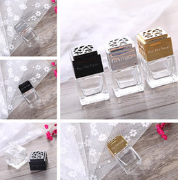 Cars Oils Australia - Hot Car four square aromatherapy Essential Oils Diffusers glass bottle car essential oil aromatherapy packaging empty bottle T7I5015