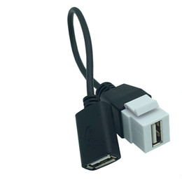 usb wall panel Australia - 20cm USB 2.0 A Male Female to A Female Panel Mount Insert Keystone adapter Extension Cable for Wall Socket plate panel