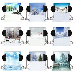 Photography Christmas Digital Backdrops Australia - 150x220cm christmas tree snow scenic photography backdrops for photos camera fotografica digital cloth props studio photo background vinyl
