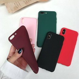 Cell Phone Cases For Cheap Canada - For iphone XS MAX XR X 6S 7 8 plus TPU Silicone Soft Cell phone Case Slim Ultra Thin Cheap Cell phones Cases Cover Candy colors Black Cover