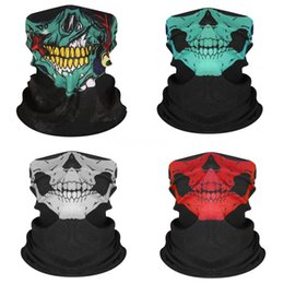 filter mask for sports Canada - E2C8W Outdoor Magic Skull Scarf Bicycle Sports Riding Gas Mask Bike Headband Breathable Cycling Filter Face Mask For Bike + Skull Scarf#504
