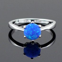 7f6e1fc087 ring HAIMIS Blue Fire Women Claw Inay Fashion Jewelry Opal Ring Size 6 7 8  9 10 23B