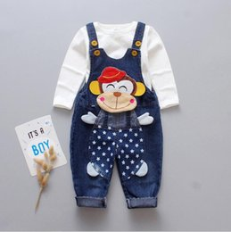 3t bib online shopping - 2019 spring and autumn new children s suit denim bib pants trousers two sets of casual suspenders factory straight