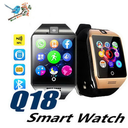 Chinese  Q18 Plus Android 4.4 Smart Watch Phone 3G GPS WiFi Fashion Wristwatch Camera Video Smartwatch With 512MB 4G Memory Bluetooth Clock manufacturers