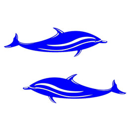 $enCountryForm.capitalKeyWord Australia - 2 Pieces 18*5cm Waterproof Dolphins Stickers Vinyl Decals for Kayak,Boat,Car,Bathroom,Window,Wall or Home Decor Marine Style