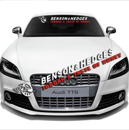 $enCountryForm.capitalKeyWord NZ - Car Front Rear Windshield Window Banner Vinyl Emblem Decal Auto Exterior Reflective FOR BENSON HEDGES Sticker