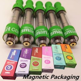 Cigarette paCkage box online shopping - Smart Carts Ceramic Magnetic Packaging Box E Cigarettes Vape Carts ML Vape Tanks Thick Oil Empty Vape Pen Vaporizer Pen Atomizers