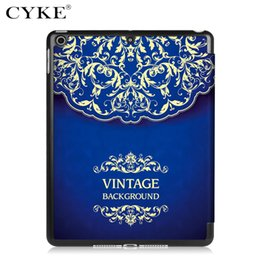 Wholesale CYKE For Apple iPad Fold Magnetic Smart Cover Case With Auto Sleep Wake Funtion