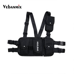 Military Multi Pack Australia - Hot Fashion Chest Rig Black Waist Bag Pack Multi-pocket Hip Hop Streetwear Functional Military Tactical Chest Bag Kanye West New #31622