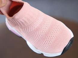 $enCountryForm.capitalKeyWord Australia - Newest Soft Baby Fashion Socks Shoes Boys Sneakers Pink Black Girls Shoes Infant Knitting Toddler Shoes High Top Ankle Flats