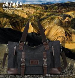 $enCountryForm.capitalKeyWord Australia - Wholesale brand men handbag multi-functional leather with canvas shoulder bag fashion belt decoration Messenger bag outdoor large canvas cas