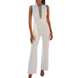$enCountryForm.capitalKeyWord UK - Overalls for Womens Jumpsuit Casual Sleeveless O-Neck Bandage Jumpsuit Slim Lace Sexy Romper Women Ankle-length pants