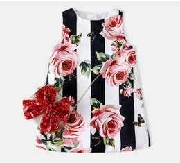 China Famous Brand Flower Girl Dress Sleeveless Summer Baby Girl Cut Clothes A-line Girl's Dresses Princess Dress Vestidos Free Shipping cheap clothes free european shipping suppliers