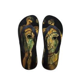 $enCountryForm.capitalKeyWord UK - 2019 Customizable Summer Men Flip Flops Beach Anti-slip Sandals Casual Anti-Slip Shoes Painting Print For Francis Picabia
